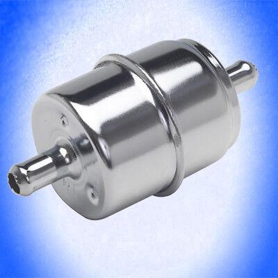BENZINFILTER CHROM BENZIN universal 8 mm Benzinleitung CHROMFILTER Filter