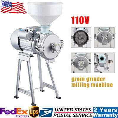 2200w Electric Mill Machine Corn Grain Wheat Cereal Feed Dry Wet Grinderfunnel