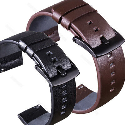 Fossil Leather Band (For Fossil Watch Genuine Leather Band Wrist Strap 18/20/22mm+Quick Release)