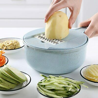 Mandoline Cutter (Mandoline Slicer Potato Peeler Carrot Onion Grater with Strainer Vegetable Cutte)