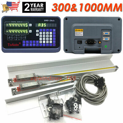 "12"" 40"" TTL Linear Scale 2Axis Digital Readout DRO Display Kit Milling Lathe US"