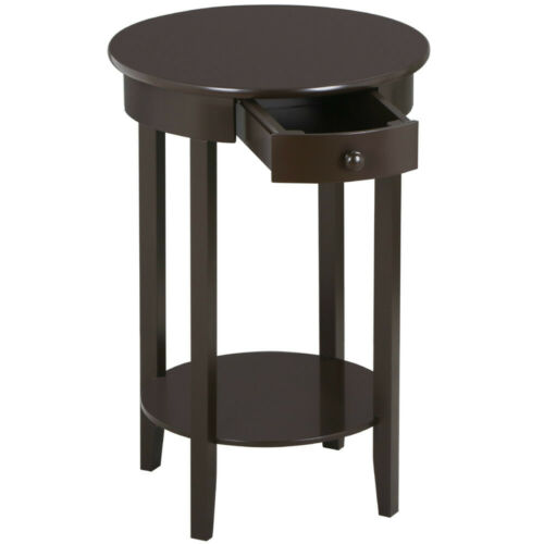 Accent Table Sofa Bed Chair Side Nightstand End Stand w/ She