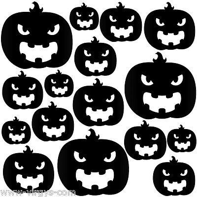 Citrouilles Halloween (Sticker Planche Halloween Citrouilles, Tailles Coloris Divers)