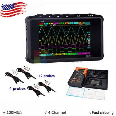 Digital Oscilloscope Portable Lcd 4-channel Usb 15mhz 100msas Models Ds213