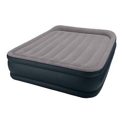 Intex Deluxe Raised Pillow Rest Air Mattress with Built-In Pump, Queen | 67737E