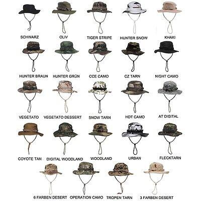 US Army GI Buschhut Boonie Hat Rangerhut Schlapphut Tarnhut RIP Stop Camouflage (Ranger Hut)