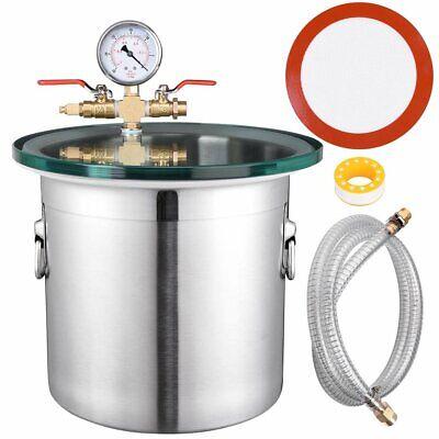 ABLAZE 1.5 Gallon Gal Vacuum Chamber Stainless Steel Degassing Urethanes Sili...