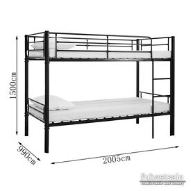 ❤Get It Today❤ Brand New Metal Frame SINGLE BUNK bed 3ft kids or adults ! Convertible as Single beds