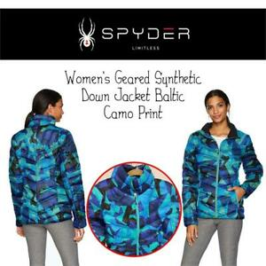 NEW Spyder Active Sports Womens Geared Synthetic Down Jacket Baltic Camo Print Medium Condtion: New, Baltic Camo Pri...