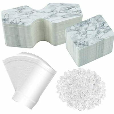 500 Pcs Marble Earring Necklace Bracelet Display Card Holder Set Include 100 X