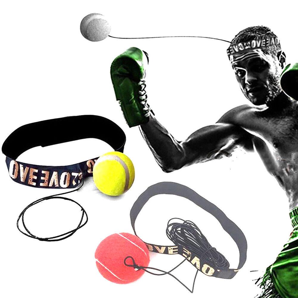 Boxing Speed Tennis Ball Reflex Training Übung Sport Kopf Band Speedball