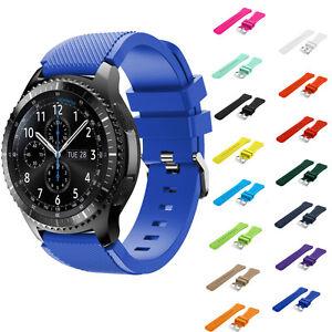 Moda-Deportes-Lujo-Silicona-Correa-Pulsera-Para-Samsung-Gear-S3-Frontier