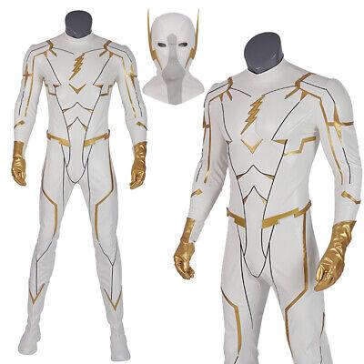 Flash Superhero Costumes (The Flash Season 5 Costume  SuperHero Godspeed Costume Cosplay Halloween)