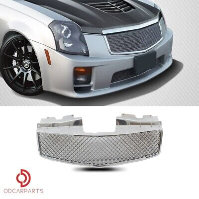 Fits 2003-2007 Cadillac CTS Front Upper Grille Grill Mesh Style Chrome