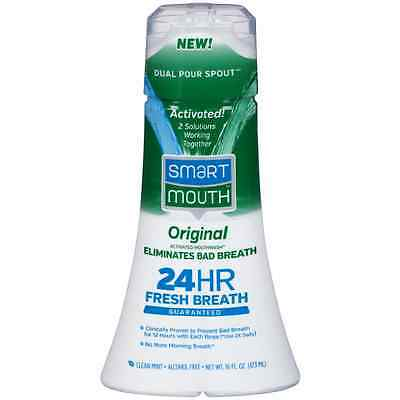 SmartMouth Original Activated Mouthwash, Clean Mint 16 oz (Pack of 2)