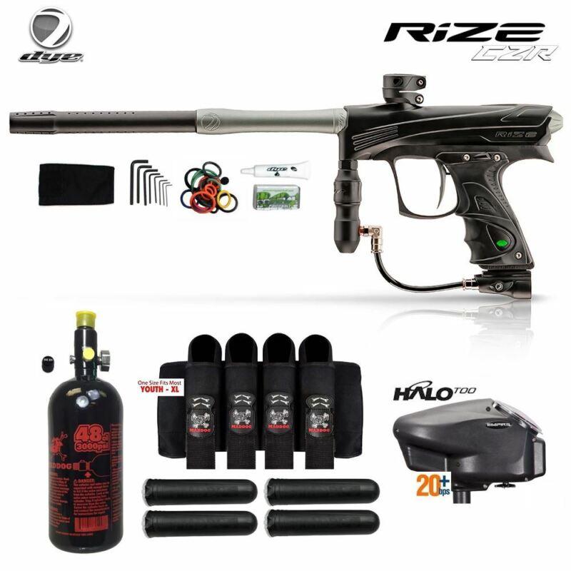 Dye Rize CZR Advanced HPA Paintball Gun Package - Black / Grey