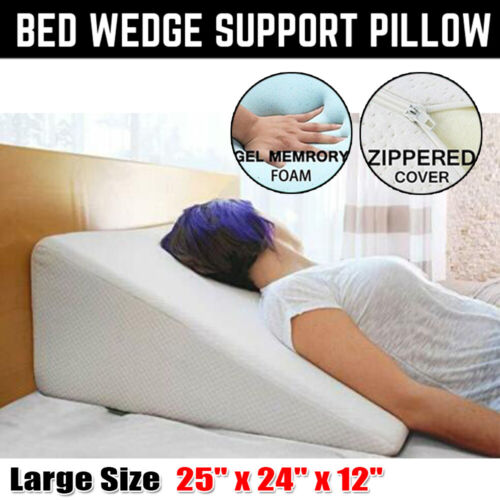 """12"""" Large Bed Wedge Pillow Foam Body Positioner Elevate Supp"""