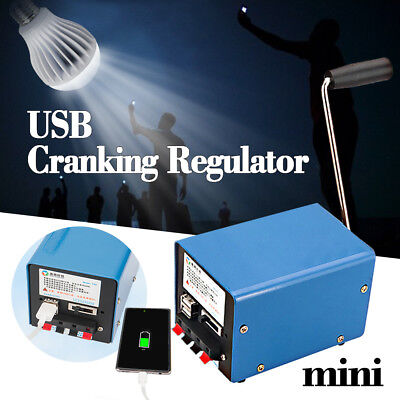 Portable Hand Crank Generator Emergency Usb Charger Sos Camping Outdoor Survival