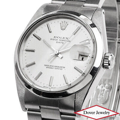 Rolex Vintage Oyster Date Stainless Steel Automatic Men's Watch NR