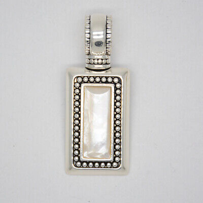 premier designs jewelry unique polished silver plated slide rectangle pendant Rectangle Slide Pendant