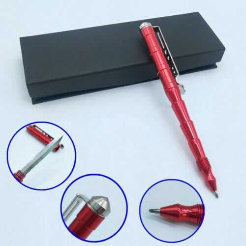 Self Defense Tactical Pen with Window Glass Breaker Ballpoin