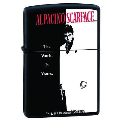 """SCARFACE """"AL PACINO CLASSIC"""" Zippo Lighter matte black finish NEW IN BOX"""
