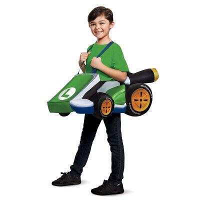 Child Luigi Mario Kart Costume size Standard - Luigi Mario Kart Kostüm