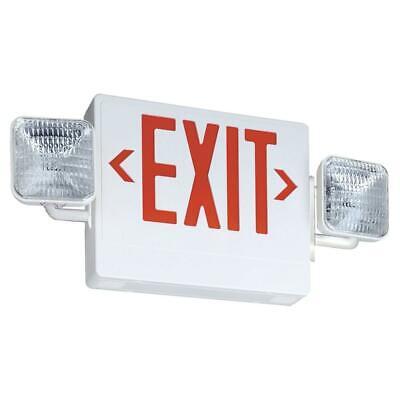 Lithonia Lighting Led Exit Sign Plastic Emergency Light Unit Combo Adjustable