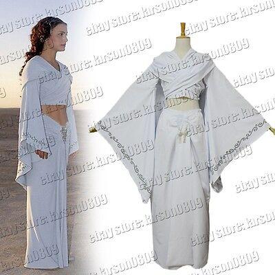 Star Wars Padme Amidala Princess White Dress Cosplay Costume Uniform Custom Made](Star Wars Princess Amidala Costume)
