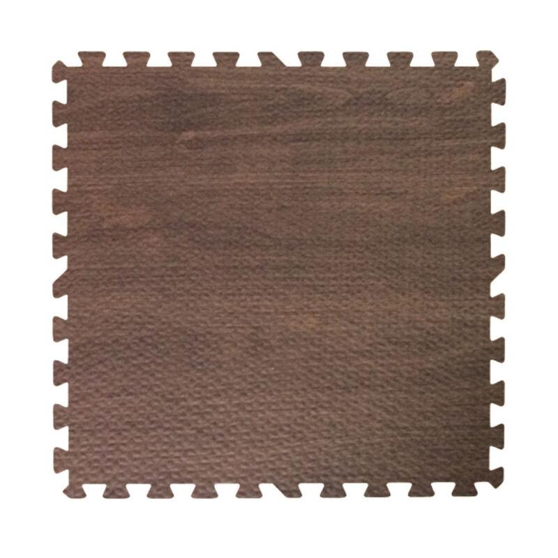 144 ft walnut dark wood grain interlocking foam puzzle tiles mat puzzle floorin