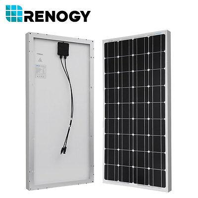Renogy Best Seller 100 Watt 12 Volt Monocrystalline Solar Panel W/ MC4 Connector