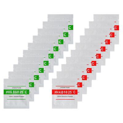 20pcs 4.00 6.86 PH Buffer Powder for PH Meter Measure Calibration Solution -