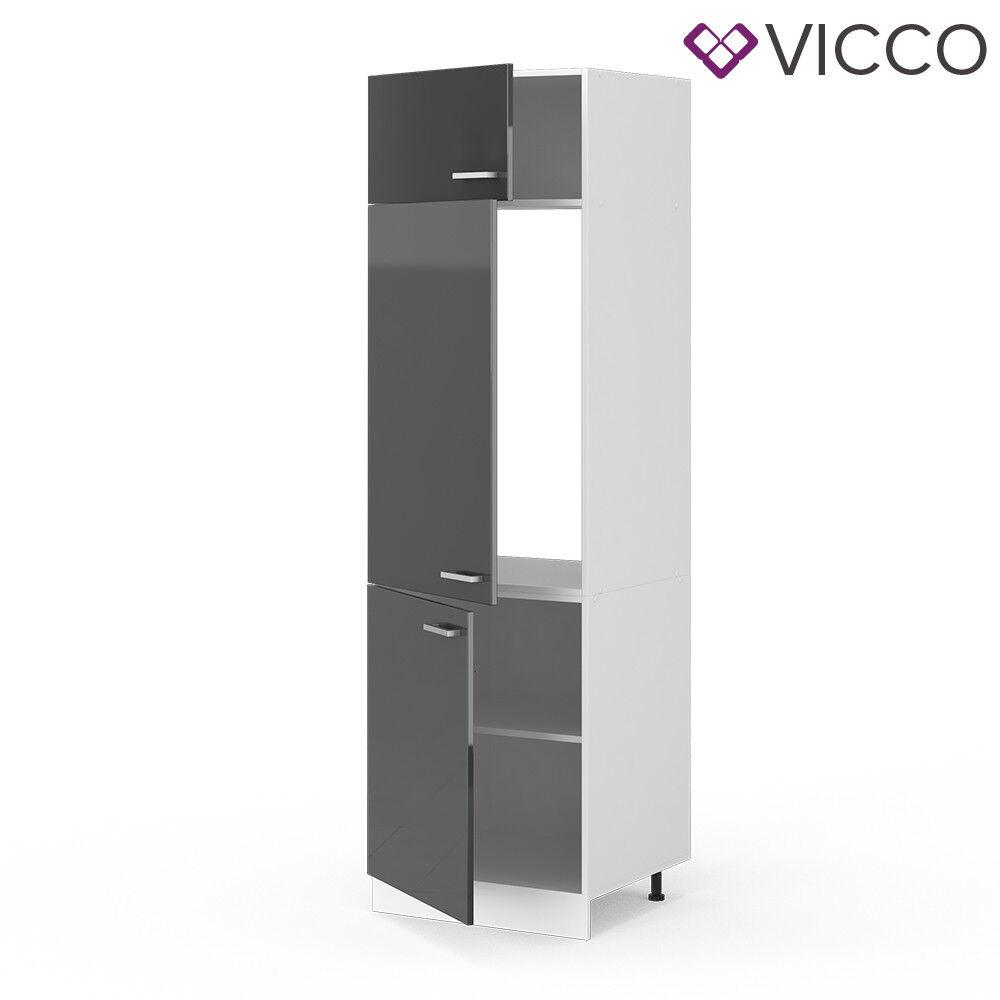 VICCO Küchenschrank Hängeschrank Unterschrank Küchenzeile R-Line Kühlumbauschrank 60 cm anthrazit