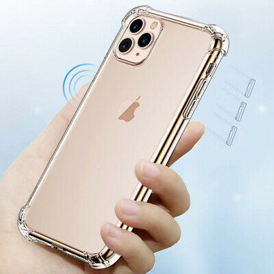 For iPhone 11,Pro,Pro Max Case [Ultral-Clear] Shockproof Slim Hybrid Hard Cover