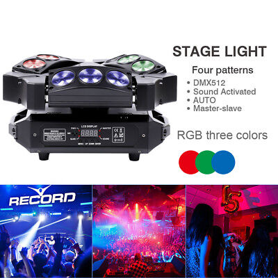 9x10W RGBW 4in1 LED Spider Stage Lighting Moving Head Effect DMX512 Show DJ KTV