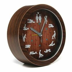 Funny Clock Sex Position Adult Wooden Decorative Living Room Home Clock Gift