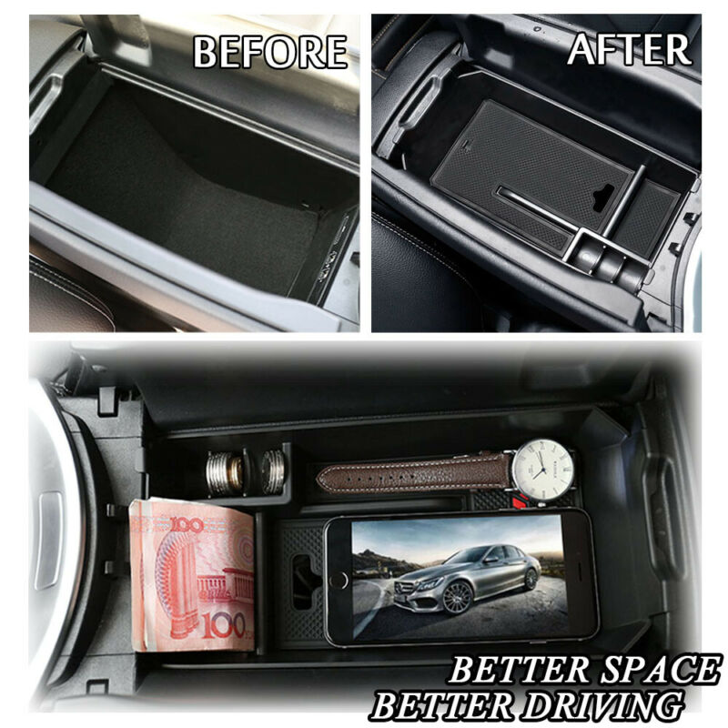 Check Pic 2 Before Order 2015 2016 2017 For Mercedes Benz GLC-Class X253 Middle Console Armrest Storage Box Holder 1pc