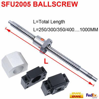 Sfu2005 Rolled Ballscrew Anti-backlash C7 Ballnut 3003504004505006001000