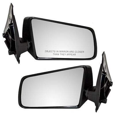 S10 S15 Pickup Truck & S10 Blazer S15 Jimmy Set of Side Manual Textured Mirrors
