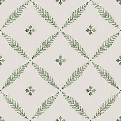 51024 - Blomstermala Flores Frondoso Enrejado Verde Galerie Papel Pintado