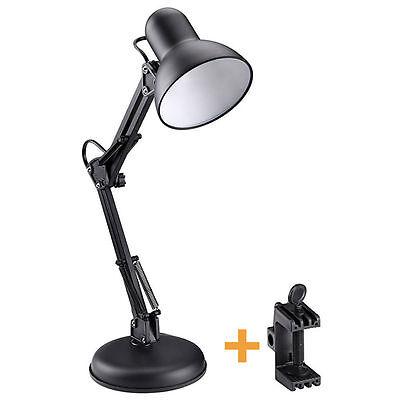 Flexible Swing Arm Clamp Mount Lamp Office Studio Home Table Desk Light Click on