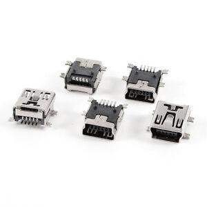 SALE ! 5 pcs Mini USB Type B Female Port 5-Pin 180 Degree SMD SMT PCB Jack FK