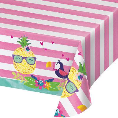 unde Party Tischdecke Tropische Luau Hawaiisch Sommerfest (Plastik-ananas)