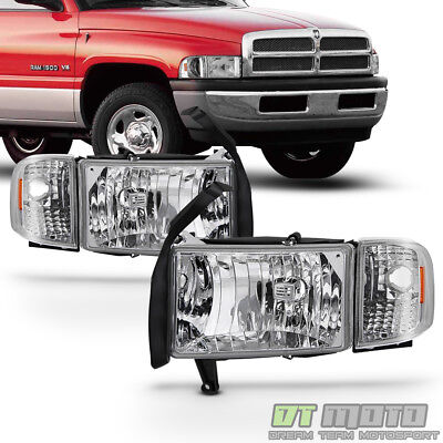 1994-2001 Dodge Ram 1500 2500 3500 Headlight w/Corner Lights Signal Lamps 94-01