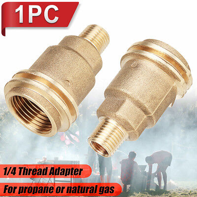 - QCC1 Connection 1/4 Inch Male Pipe Thread Propane Gas Fitting Adapter Connector