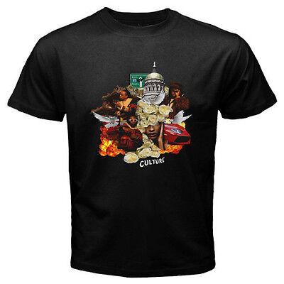 New Migos  Culture Rap Hip Hop Music Mens Black T Shirt Size S To 3Xl