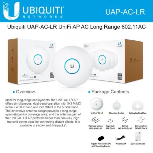 Ubiquiti UAP-AC-LR UniFi AP Long Range 802.11AC Gigabit PoE International Versio