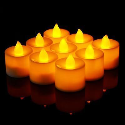Bulk Flameless Tea Lights ( 24 Flameless Battery Christmas LED Tea Lights Flickering Amber Tealight)
