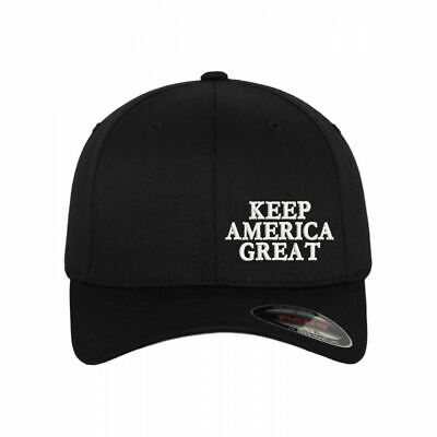KAG Keep America Great Embroidered Black flex fit Cap Hat with Personal Name Black Flex Fit Cap