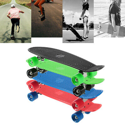 PU Wheels 22 Inch Cruiser Skateboard Kids Teenager Nonslip Surface Scooter R5F6